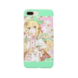 お菓子の国のチョコミントアリス Smartphone cases