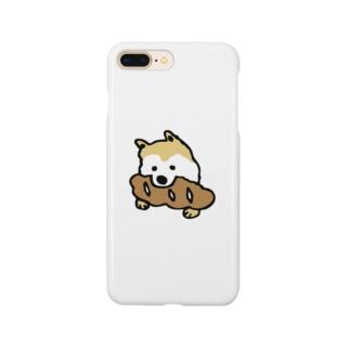 パンをくわえた犬① Smartphone cases