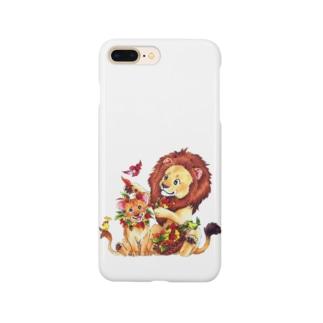 *えいぷりる どぎぃ工房*の親子ライオン Smartphone Case