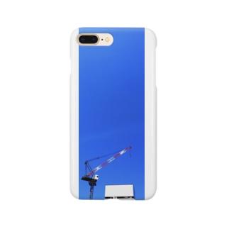 タワークレーンと青空 Smartphone cases
