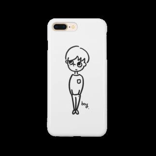 migiue_familyのミギウエヲミルボーイ Smartphone cases
