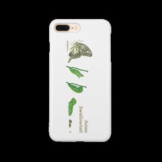 kitaooji shop SUZURI店のAsian Swallowtail Smartphone cases
