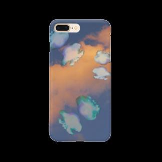 寫眞館 青い鳥の空飛ぶくらげちゃん Smartphone cases