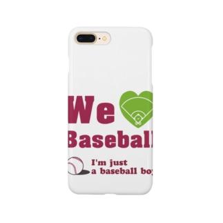 We love Baseball(レッド) Smartphone cases
