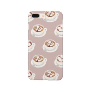 マシュマロ入りココア Smartphone cases