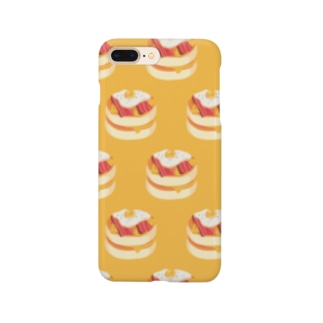 ベーコンエッグパンケーキ[黄]  Smartphone cases