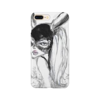𝐌𝐢𝐤𝐚 𝐑𝐨𝐥𝐚𝐧𝐝 ~ 𝐩𝐥𝐚𝐧𝐞𝐭のMR rabbit - white Smartphone cases