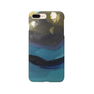 Yuri_Paintingのブラックプラム Smartphone cases