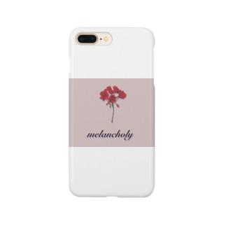 真紅のゼラニウム Smartphone cases