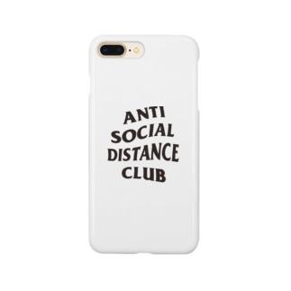 アンチソーシャルディスタンスクラブ 黒 Smartphone cases