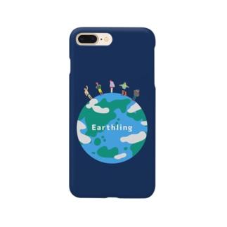 Earthlingの地球の上に立つ地球人たち Smartphone cases