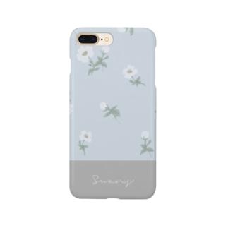 花柄 ツートン Smartphone cases