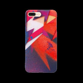 iNvisibleColorsのInvisiblecolors_Stencil_Orange Smartphone cases