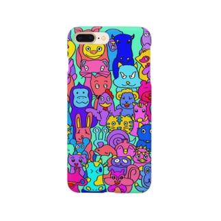 カラフルアニマルスマホケース Smartphone cases