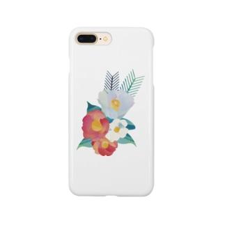 真冬の椿 Smartphone cases