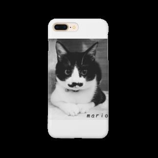 ひげ猫マリオのひげ猫マリオ Smartphone cases