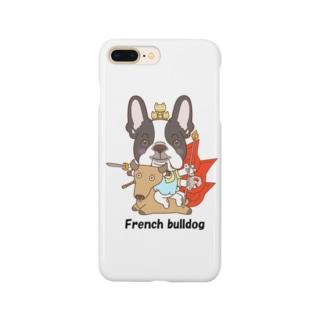 大威徳明王 フレンチブルドッグ Smartphone cases