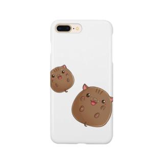 まんまるいのしし Smartphone cases