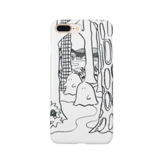 森のオバケちゃん(くろ) Smartphone cases