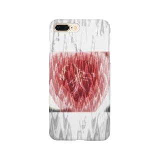 脈拍149 ver.白重 Smartphone cases