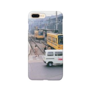 """東京都:都電荒川線王子駅前停留所 Tokyo: """"Toden"""" at Oji-ekimae stop Smartphone cases"""