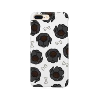 黒ラブたくさん Smartphone cases