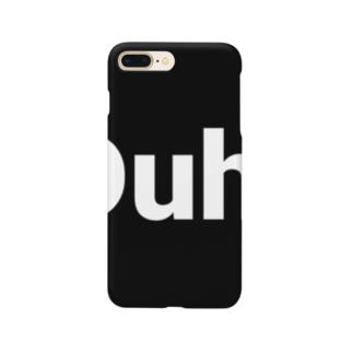 Duh black logo Smartphone cases