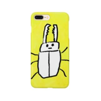 クワガタ君 と レモン色 Smartphone cases