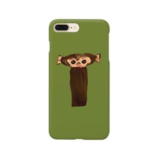 イニシャル頭文字 背景色有り文字絵「T」スマホケース Smartphone cases