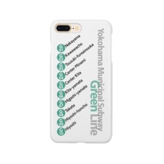 鉄道 iPhoneケース(横浜市営地下鉄グリーンライン) Smartphone cases