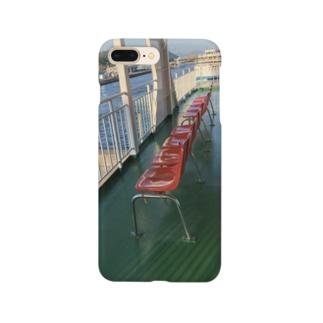 桜島フェリーのイス Smartphone cases