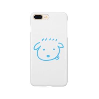 ゆるごる シンプル水色ver. Smartphone cases