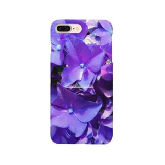 【紫陽花・紫】 Smartphone cases