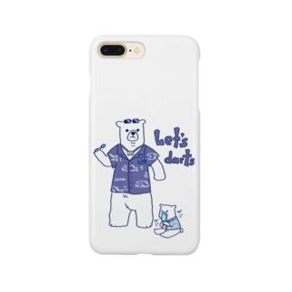 ダーツする白熊さん🎯 Smartphone cases