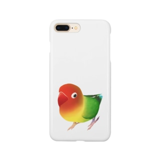 ボタンインコ おすましルリゴシボタンインコ【まめるりはことり】 Smartphone cases