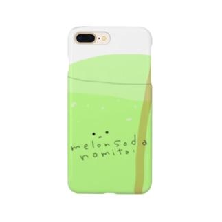 めろんそーだくんケース Smartphone cases