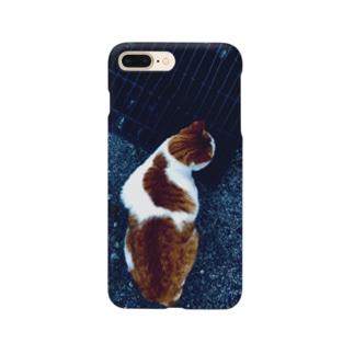猫柄の猫の写真 Smartphone cases