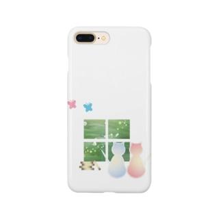 ねこと蝶 Smartphone cases