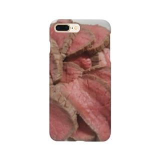 迫り来る肉 Smartphone cases
