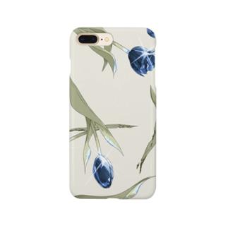 青色チューリップ Smartphone cases