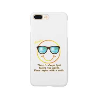 サングラス×スマイル🕶(オレンジ) Smartphone cases