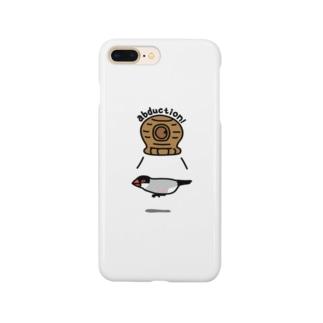 桜文鳥アブダクション Smartphone cases