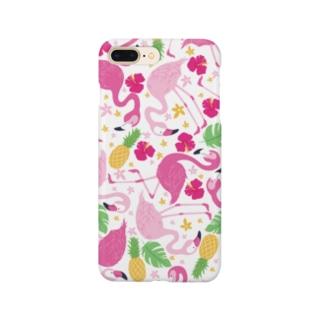 サマーフラミンゴ Smartphone cases
