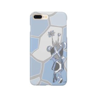 青いくまの王(右寄り気味) Smartphone cases