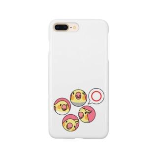 オカメインコまる〇【まめるりはことり】 Smartphone cases
