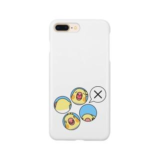 オカメインコばつ×【まめるりはことり】 Smartphone cases