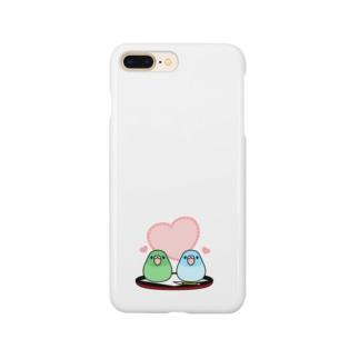 まめ大福マメルリハ【まめるりはことり】 Smartphone cases