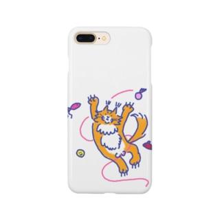 遊ぶ猫スマホケース(♂) Smartphone cases