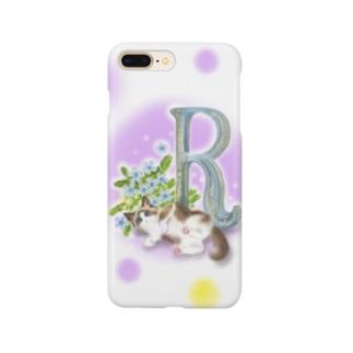 flower&cat R Smartphone cases