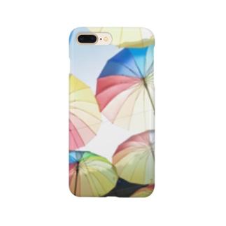 空飛ぶカラフル傘2 Smartphone cases